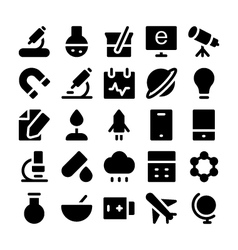 Science icons 2 vector