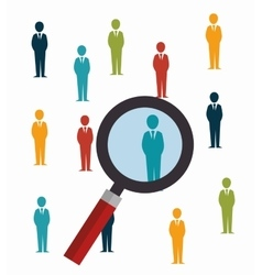 search human resources recruit design isolated vector image