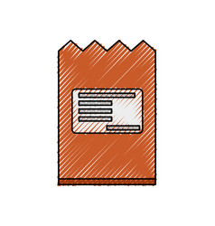 Shipping envelope isolated vector