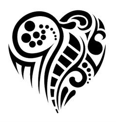 tatoo heart vector image