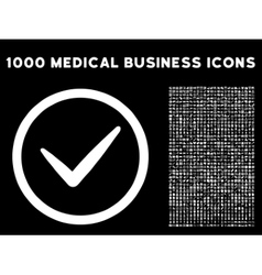 Valid rounded icon with medical bonus vector