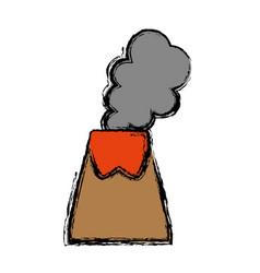 Volcano icon image vector