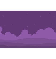 Purple hill for game vector image