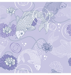 Koi carp background vector