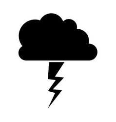 Storm weather icon vector