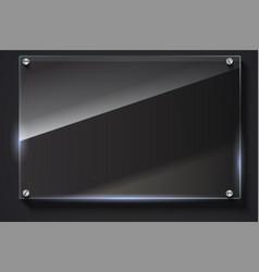 Elegant glass banner background vector