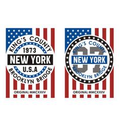 Kings county new york vector