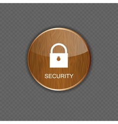 Security wood application icons vector