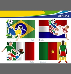 Soccer football players Brazil 2014 group A vector image