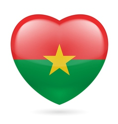 Heart icon of burkina faso vector