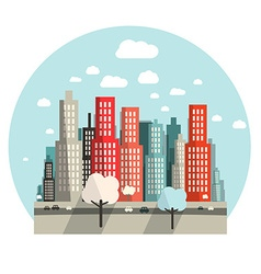 Flat design city vector