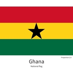 National flag of ghana with correct proportions vector