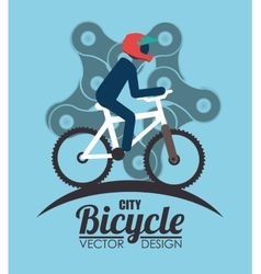 Ride a bike vector