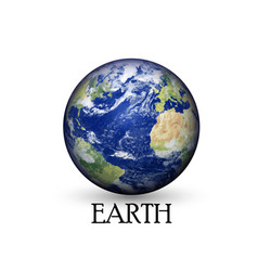 Earth globe background vector image