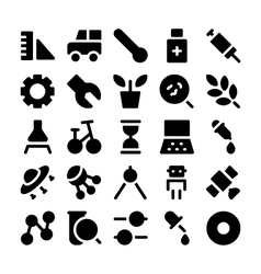 Science icons 3 vector