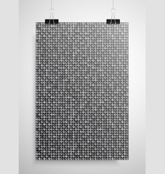 Silver sequin poster on the wall eps 10 vector