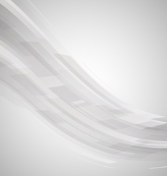Abstract black and white wave technology vector image vector image