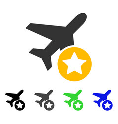 airplane rating flat icon vector image vector image