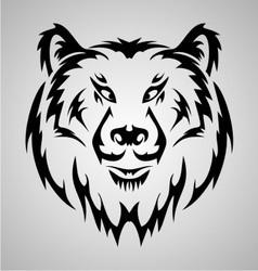 Bear face tattoo vector