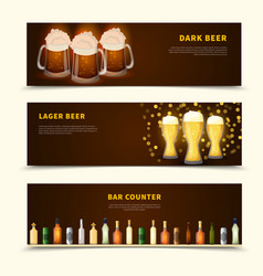 beer banners set vector image