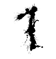 Black messy character vector image