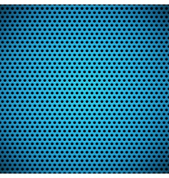 Blue Seamless Circle Perforated Grill Texture vector image