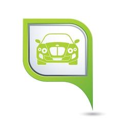 CAR GREEN pointer vector image