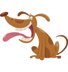 Cartoon dog cartoon vector