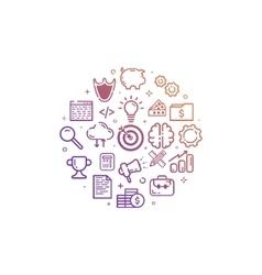 circular colorful icon in vector image