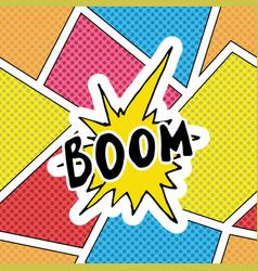 comic book speech bubble cartoon sound effect vector image