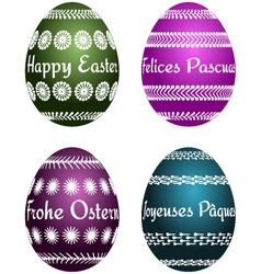 easter eggs with text vector image