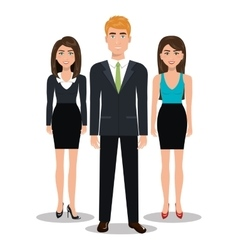 elegant businesspeople isolated icon design vector image