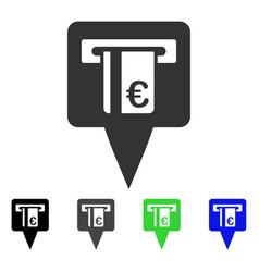 Euro atm pointer flat icon vector