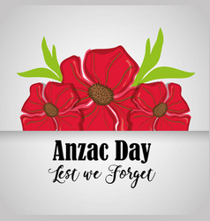 Flowers design and anzac day design vector