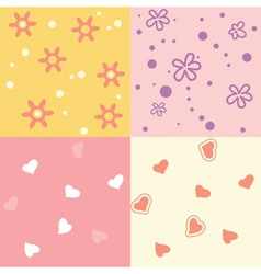 Four seamless background vector