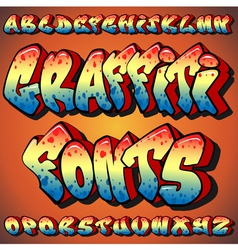Graffiti fonts vector