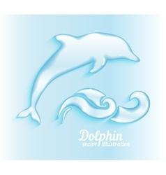Jumping dolphin vector