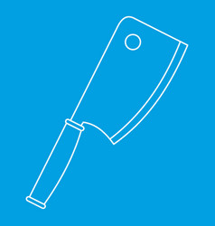 Kitchen ax icon outline style vector