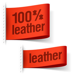 Leather product clothing labels vector image