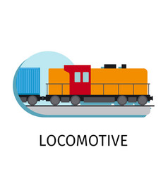 locomotive in flat style vector image