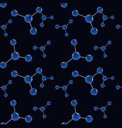 molecular model seamless pattern vector image