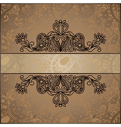 ornate vintage template vector image vector image