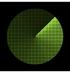 Radar screen sonar icon vector
