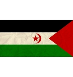 Sahrawi Arab Democratic Republic paper flag vector image