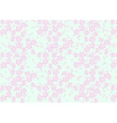 Sakura flowers pattern vector image