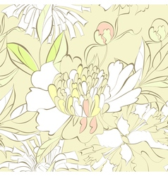 seamless pattern with decorative flowers vector image vector image