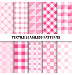 Set of textile seamless patterns vector