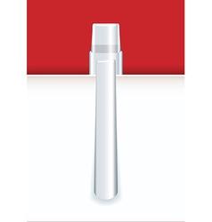 Silver pen vector image vector image