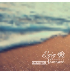 Summer beach vintage blurred background vector