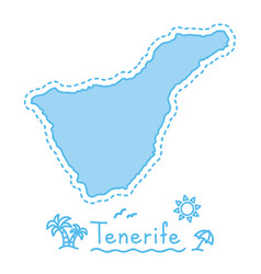 Tenerife island map isolated cartography concept vector